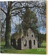 Chapel Ruins Wood Print