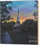 Chapel Sunset Wood Print