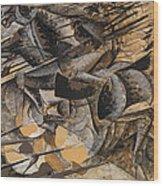 Charge Lancers Wood Print