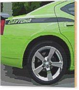 Charger Daytona Wood Print