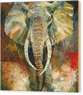 Charging African Elephant Wood Print
