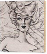 Charice Doll Wood Print