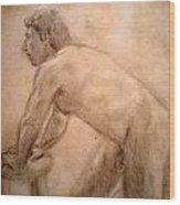 Charity Figure Drawing 2 Wood Print
