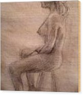 Charity Figure Drawing 3 Wood Print