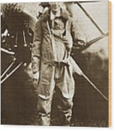 Charles A. Lindbergh And Spirit Of St. Louis May 12 1927 Wood Print