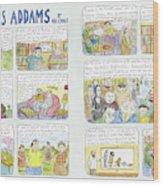 Charles Addams Wood Print