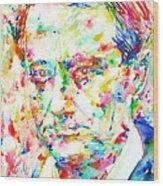 Charles Baudelaire Watercolor Portrait.1 Wood Print