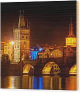 Charles Bridge II- Prague Wood Print