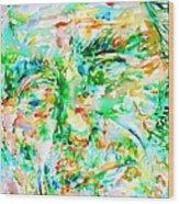 Charles Bukowski Portrait.3 Wood Print