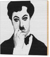 Charles Chaplin Wood Print
