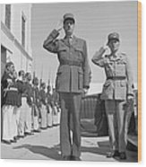 Charles De Gaulle In Carthage Tunisia 1943 Wood Print