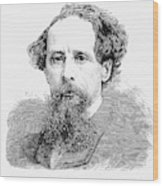 Charles Dickens, English Author Wood Print