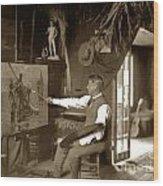 Charles Dickman Artist Monterey California Circa 1907 Wood Print