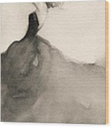 Charles James Swan Gown - Fashion Illustration Art Print Wood Print