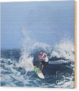 Charles Martin Pro Surfer In Hawaii Wood Print