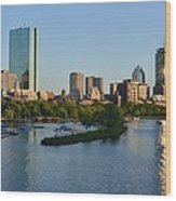 Charles River Reflection Wood Print