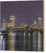 Charles River Reflections - Boston Wood Print by Joann Vitali