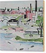 Charles River Wood Print