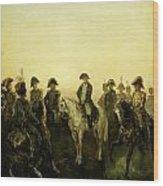 Charles Rochussen Napoleon Met Zijn Staf Wood Print
