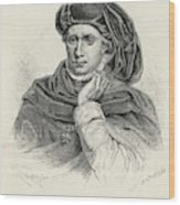 Charles Vi Of France Also Known As 'le Wood Print