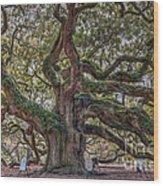 Charleston Angel  Wood Print