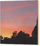 Charleston At Dusk Wood Print