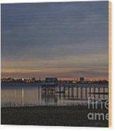 Charleston At Night Wood Print