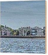 Charleston Banner Wood Print