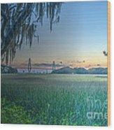Charleston Bridge View Wood Print