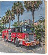 Charleston Fire Dept  Wood Print
