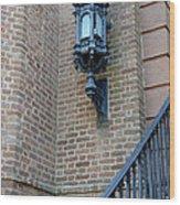Charleston French Quarter Gothic Architecture - Charleston Gothic Ornate Black Lanterns Lamps  Wood Print