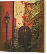 Charleston Garden Entrance Wood Print