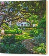 Charleston Sc Gardens Wood Print