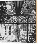 Charleston Gateway II In Black And White Wood Print