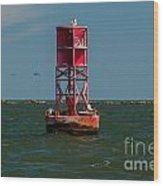 Charleston Harbor Buoy Wood Print