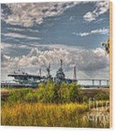 Charleston Marsh View Wood Print