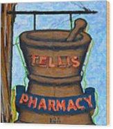 Charleston Pharmacy Wood Print
