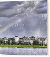 Charleston Rainbow Homes Wood Print