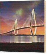 Charleston Sc - Arthur Ravenel Jr. Bridge Cooper River Wood Print by Dave Allen