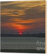 Charleston Sc Sunset Wood Print
