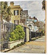 Charleston Sidewalk Wood Print