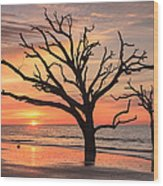 Charleston South Carolina Edisto Island Beach Sunrise Wood Print