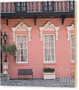 Charleston South Carolina - The Mills House - Art Deco Architecture Wood Print
