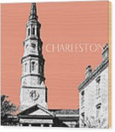 Charleston St. Phillips Church - Salmon        Wood Print