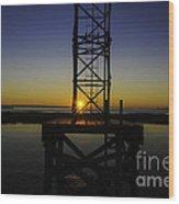 Charleston Water Sunset Wood Print