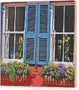 Charleston Windows Wood Print