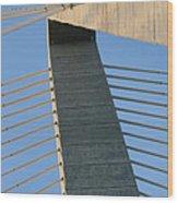 Charleston's Cable Bridge Geometric Abstract Wood Print