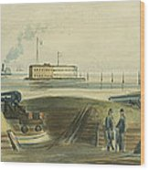 Charlestons Defense Circa 1863 Wood Print by Aged Pixel