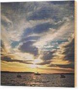 Charlevoix Sunset Wood Print
