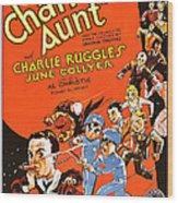 Charleys Aunt, Charles Ruggles Wood Print